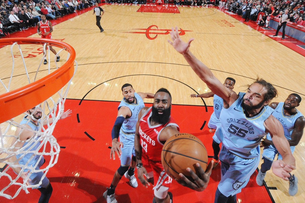 ¡57 puntos James Harden! Rockets vencen a Grizzlies